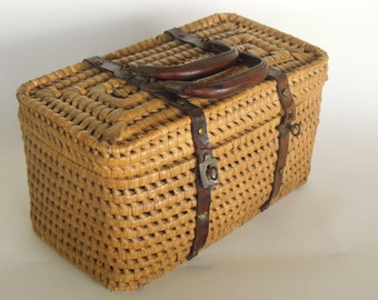 SALE - Antique French Basket Purse, Handbag