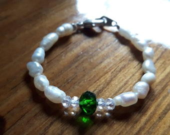 may birthstone baby anklet