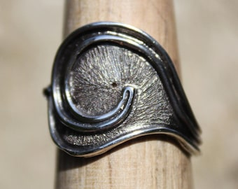 Sterling silver adjustable ring - Curvitas -