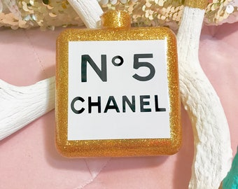 Chanel Inspired Perfume Bottle Ornament