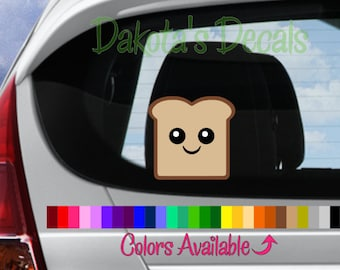 Cute Toast Car Decal
