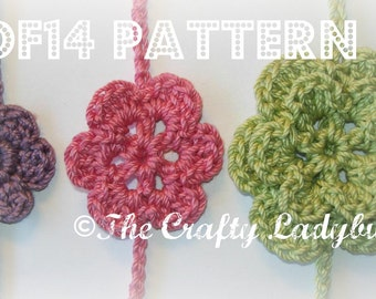 Dainty flower headband/tieback crochet pattern - 3 different sizes included - BONUS INSTRUCTIONS included - PDF14 instant download