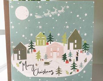 Christmas Village Greetings Card
