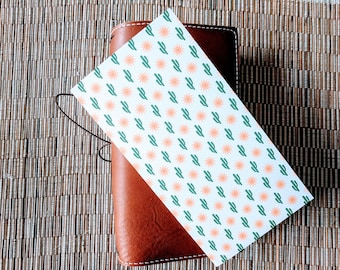 Fiesta Cactus Traveler's Notebook Insert | Midori Insert | TN Insert | Fauxdori | Tomoe River | A5 B6 Passport Standard Pocket