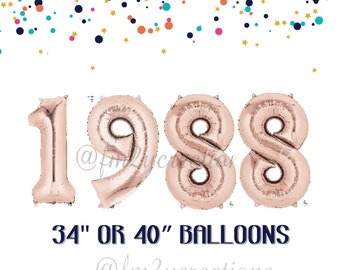 30th birthday for her   1988 Banner Balloon ROSE GOLD   30 Party   Thirsty Thirty   30th Birthday Rose GOLD Balloon Banner   Dirty Thirty