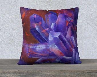 """Amethyst Pillowcover 22"""""""