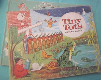 TINY TOTS PICTURE Books  Set of Two Circa 1962