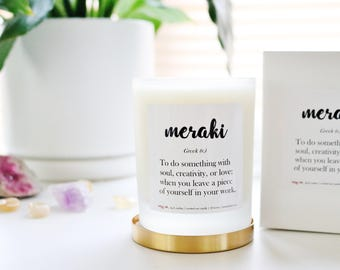 MERAKI | Fig & Melon Scented Soy Candle