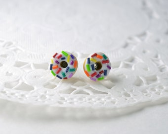 Chips donuts, gourmet gem, dowels donuts, sweet jewelry, polymer clay donuts earrings.