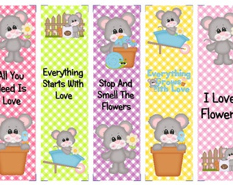 Everything Grows with Love Mice Book Marks