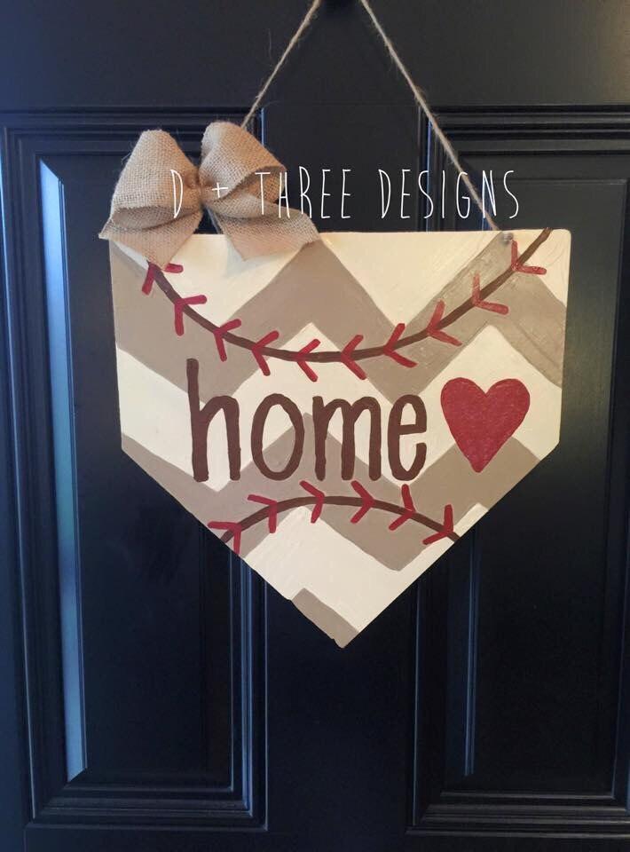 Baseball Home Plate Base Decor Wreathrhetsy: Baseball Home Decor At Home Improvement Advice