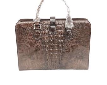 Men bag, crocodile bag