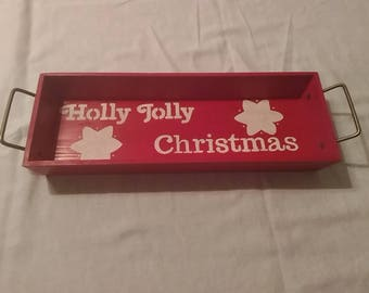Holly Jolly Christmas tray