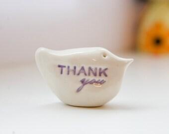 Thank you gift bird ceramic messenger thank you bird sculpture