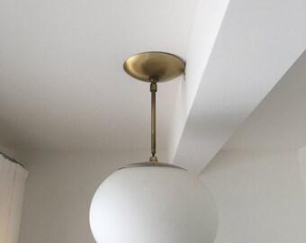 Original 1950's Globe Pendant Light
