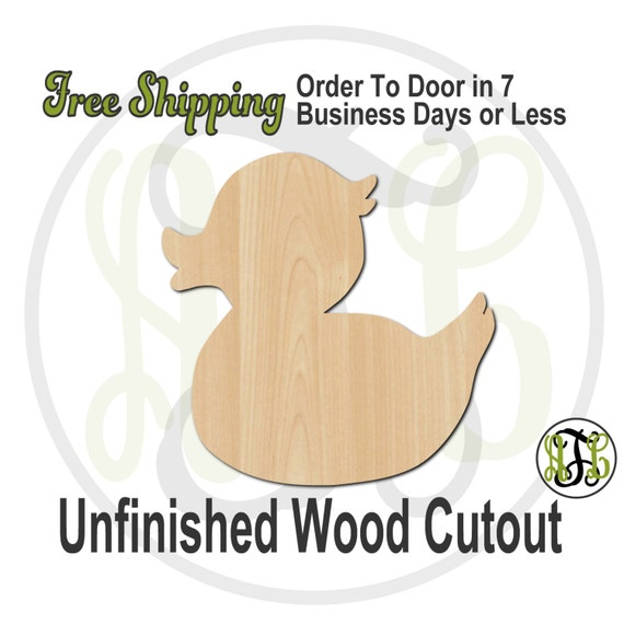 """Duck- 2"""" to 6"""" Minis- 230023- Small Wood Cutout, unfinished, wood cutout, wood craft, laser cut shape, wood cut out, ornament"""