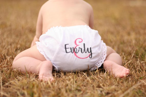 Baby girl diaper cover new baby bloomers personalized baby girl diaper cover new baby bloomers personalized bloomers baby shower gifts gifts for baby gifts under 20 baby gifts negle Image collections