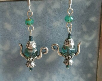 Turquoise Picasso Teaparty Earrings