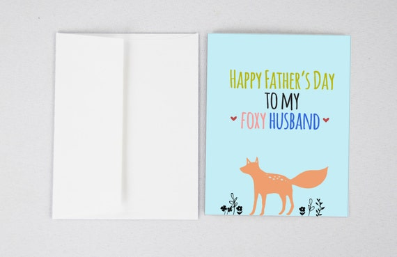 Foxy husband fathers day card husband fathers day m4hsunfo