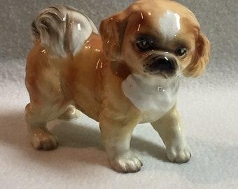 Pekingese Puppy Dog Figurine (#073)