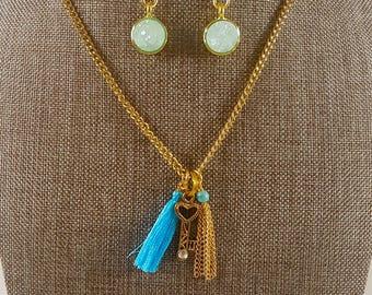 Gold and Turquoise Key Set