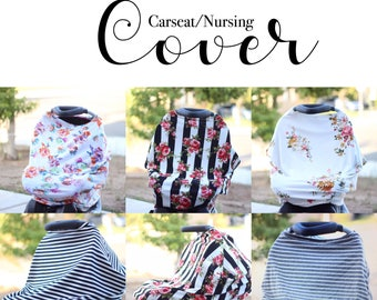 SALE Carseat/nursing cover choose fabric stardard size stretchy fabric.