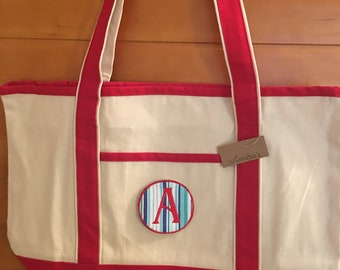 Canvas and Red Tote