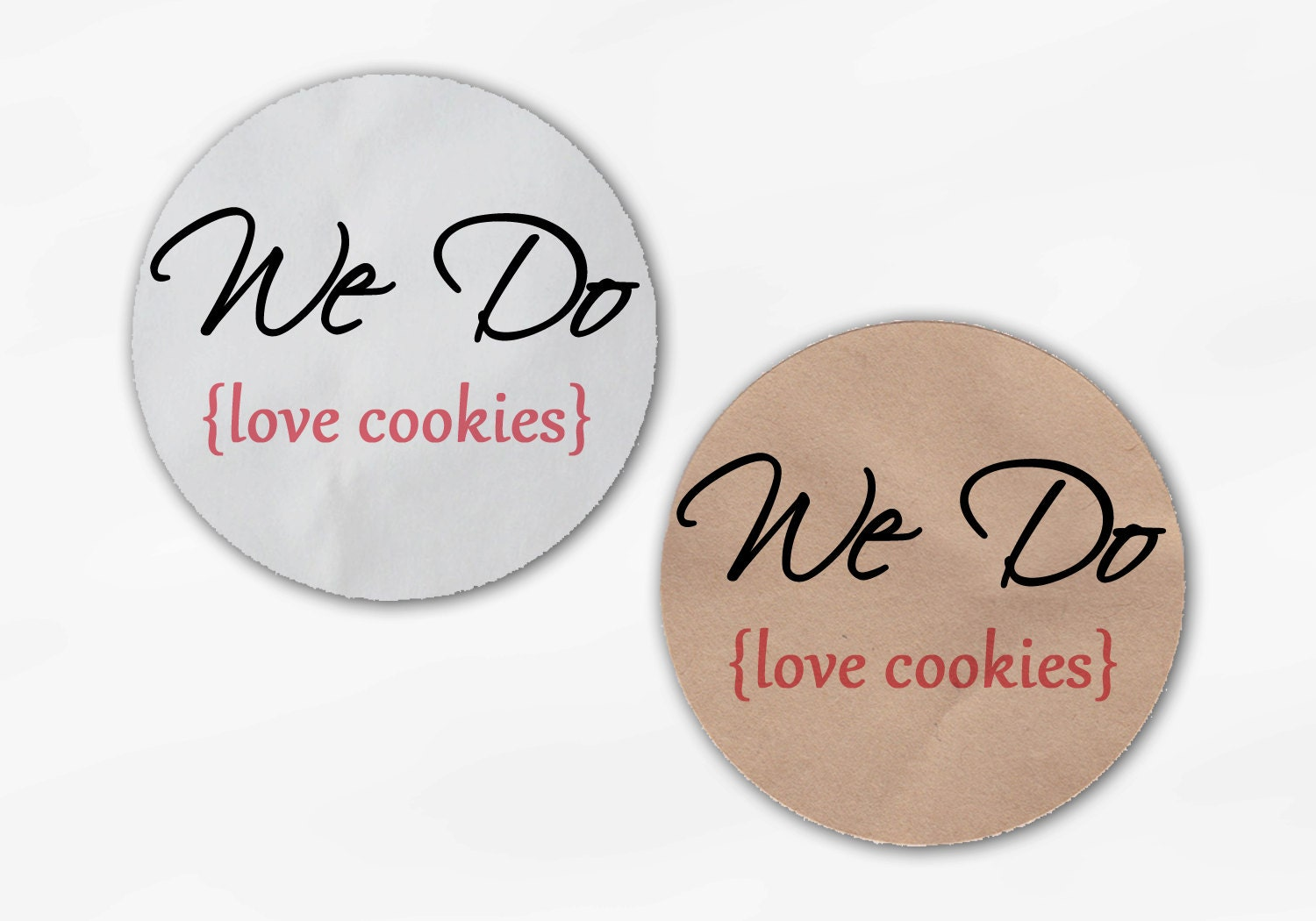 We Do Love Cookies Wedding Favor Stickers - Custom White Or Kraft ...