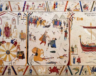 King Arthur's Story Reproduction Mosaic Mural