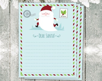 Lovely Dear Santa Letter, Christmas List, Christmas Paper, Christmas Wish List,  Christmas Printable, Cute Santa Letter, Holiday Organize, List