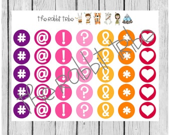 Daily Dots - punctuation, feelings, symbol stickers - planner stickers