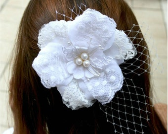 Wedding hair flower bridal hair piece bridal hair flower wedding hair piece white ivory hair flowers hair accessories wedding hair flowers