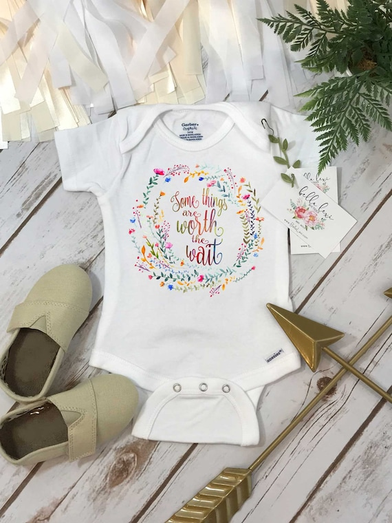Rainbow Baby Shirt: Rainbow Baby Onesie® Some Things Are Worth The Wait Special