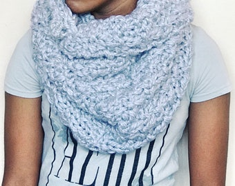 SUTTON Pullover Cowl // Handknit Chunky Scarf