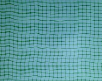12x12 Green Wavy Plaid Paper