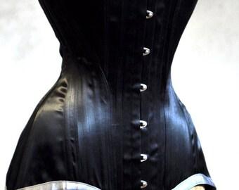 Long Black Corset- Edwardian Womens Clothing Underwear