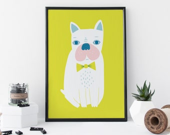 Frenchie Print - Dog Gift - French Bulldog - Bulldog Gift - Gift For Her - Gift For Girlfriend - Humorous Gift - Illustration - Wall Art