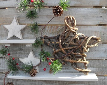 STAR WREATH, Unguli Root Wreath for Rustic Decorating, Festive, Christmas, Xmas