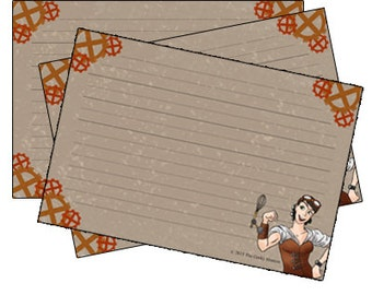 Steampunk Recipe Cards