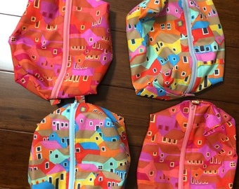 """Chattel houses cosmetic or Travel bag 7"""" x 9"""""""