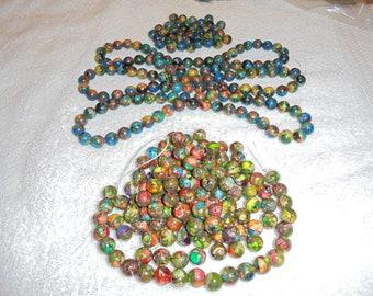 Rainbow stone beads