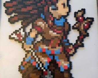 Horizon Zero Dawn Aloy - 11.0x9.0 Perler Bead Art Pixel Art