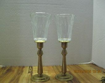 Set of vintage Brass candle sticks.