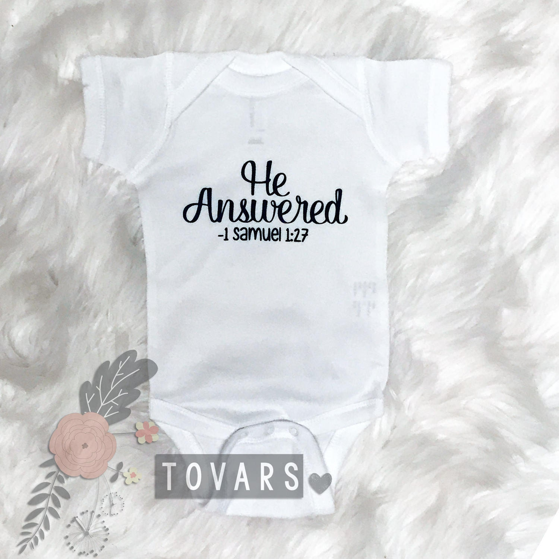 He Answered Bodysuit Pregnancy Announcement Shirt