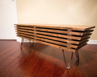 modern wood bench coffee table mid century