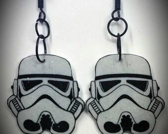 Storm Trooper Helmet earrings