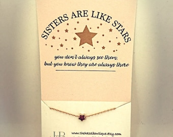 Sisters Are Like Stars Delicate Star Necklace Dainty Star Necklace