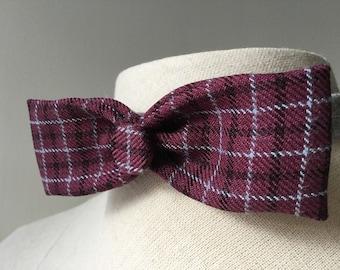 Purple Men's Bow tie with button