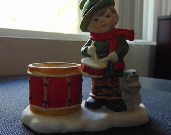 Vintage Christmas Little Drummer Boy Candle holder