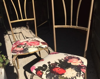 Couple of chairs in brass Italian design years 50/60